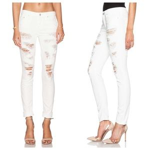 NWT Mother Looker destroyed skinny jeans